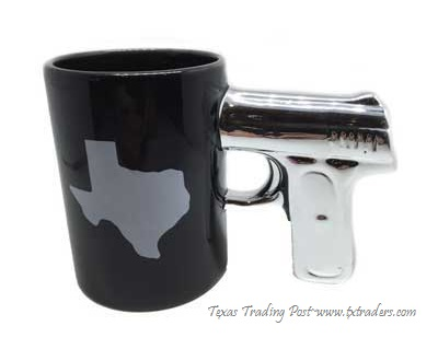 Texas Coffee Gun Mug