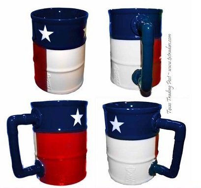 Texas Oilfield Texas Flag Ceramic Coffee Mug