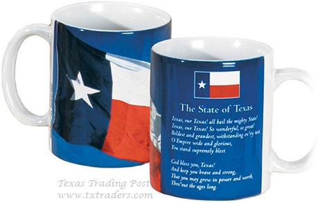 Mug - Texas State Flag and State Song  Texas Coffee Mug