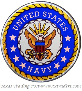 United States Navy Hand Painted Glass Art