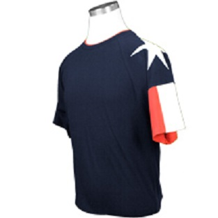 Texas T-Shirt with the Texas Flag on the Sleeve-Navy