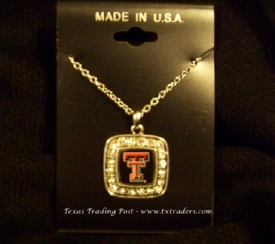 Tech - Blingy Necklace with Texas Tech Logo