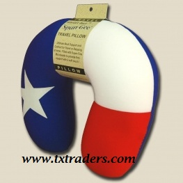 Texas Flag Neck Pillow - Travel Pillow