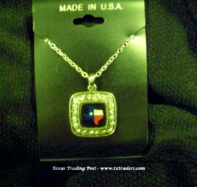 Blingy Texas Map Necklace