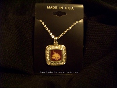 Bobcats - Blingy Necklace with Texas State Bobcat