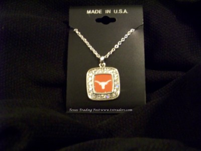 Bevo - Blingy Necklace with Bevo - University of Texas