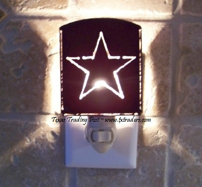Night Light Texas Lone Star