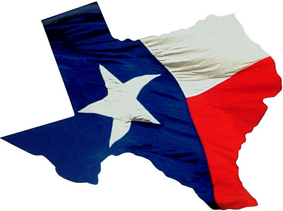 Texas Shaped Cards in our Texas Flag