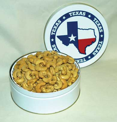 Texas Cashews in Gift Tin