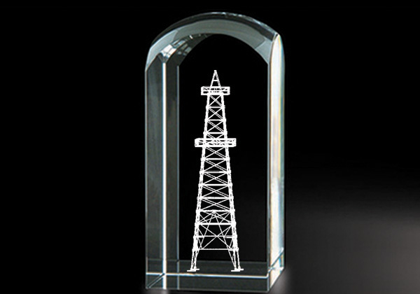 Oil Derrick - Genuine Lead Crystal