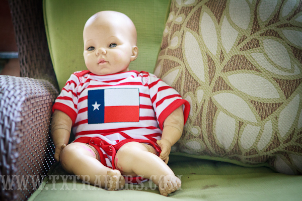 Romper One Piece with the Texas Flag