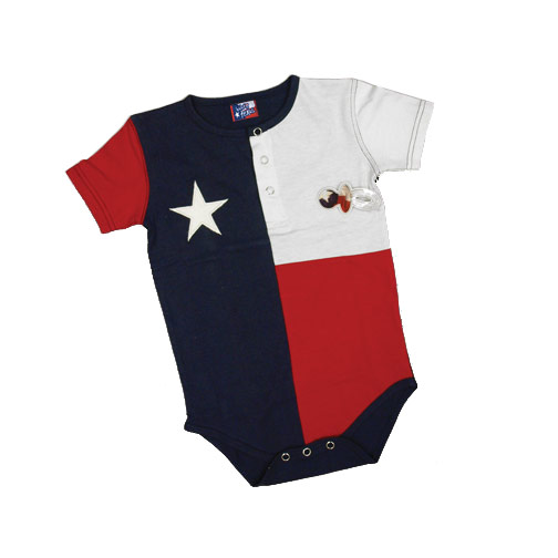 Baby Onesie in the Texas Flag design