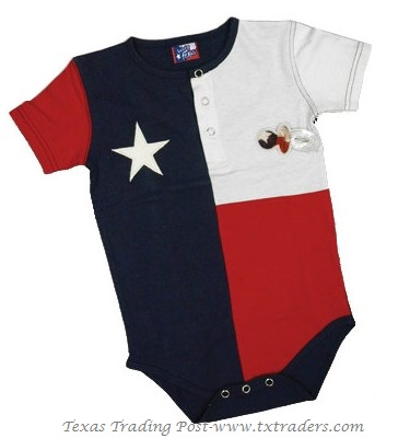 Baby One-Piece Set in the Texas Flag design