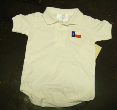 Baby Onesie with Texas Flag