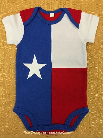 Baby One-Piece with the Texas Flag for your Texas Baby