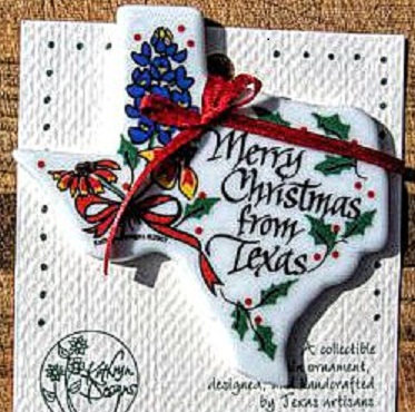 Texas Christmas Ornament Merry Christmas From Texas