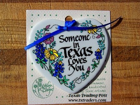 Texas Ornament - Someone in Texas Loves You
