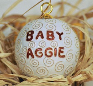 Cloisonne Baby Aggie Ornament