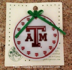 Texas A&M Ornament - WHOOP!