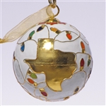 Cloisonne Texas Ornaments with Christmas Lights