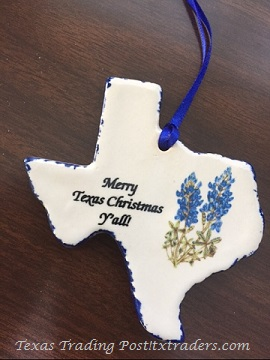 Texas Christmas Ornament-Merry Texas Christmas Y'all