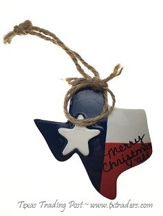 Texas Shape Ornament-Merry Christmas Y'all