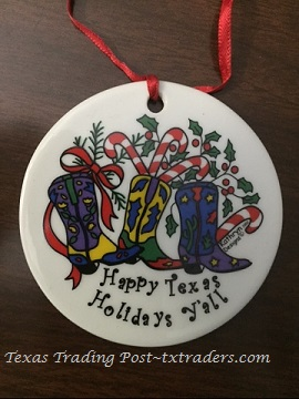 Texas Christmas Ornament Happy Texas Holidays Y'all