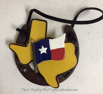 Horseshoe Ornament and the Texas Flag