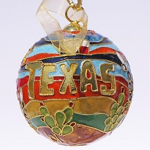 Cloisonne Texas Sunset Ornament