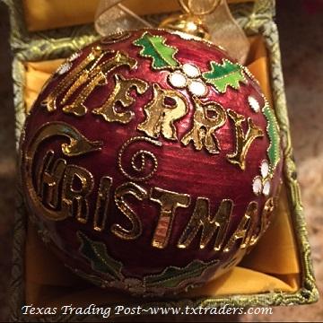 Cloisonne Texas Aggie Merry Christmas Atm