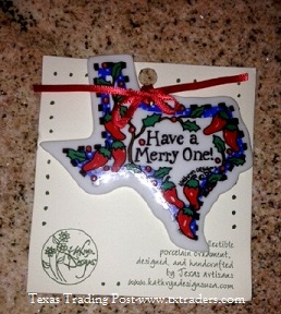 Texas Christmas Ornament - Have a Merry One