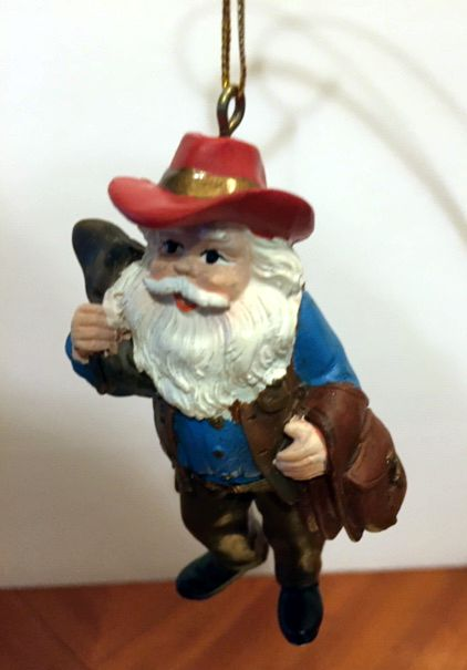 Texas Cowboy Santa Ornament