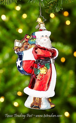 Christopher Radko Texas Ranger Nick Christmas Ornament