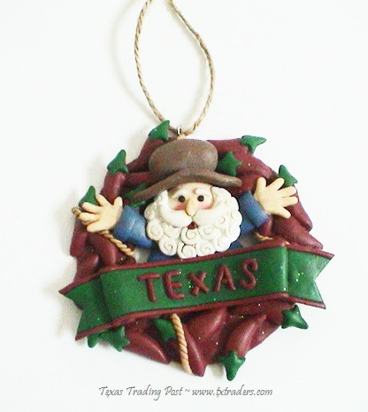 Texas Christmas Ornament - Chili Pepper Santa