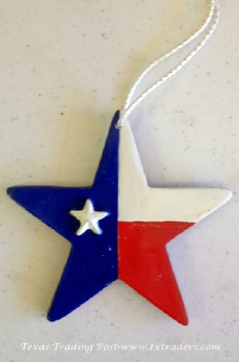 Ornament - The Texas Lone Star in the Texas Flag