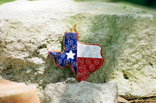 Cloisonne Texas Shaped Ornament