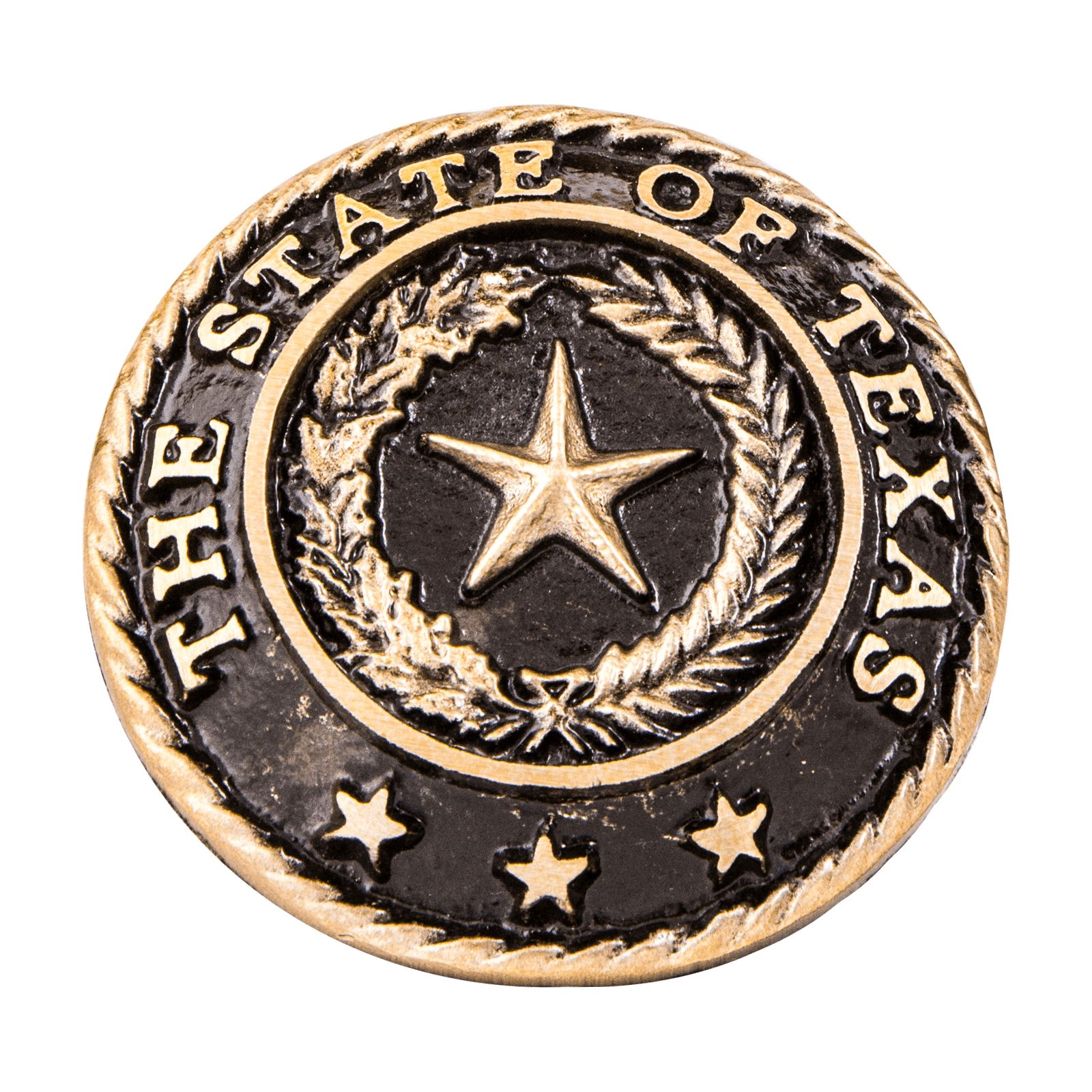 Texas State Seal Bronze Paperweight