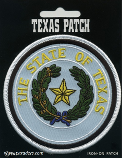 Iron On Texas State Seal Patch