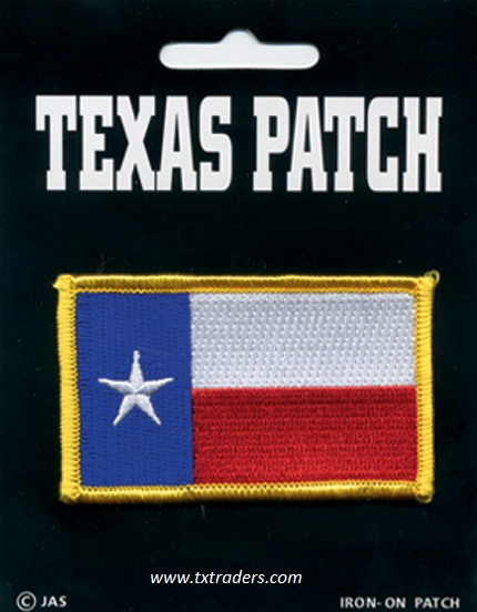 Iron-On Texas Flag Patch