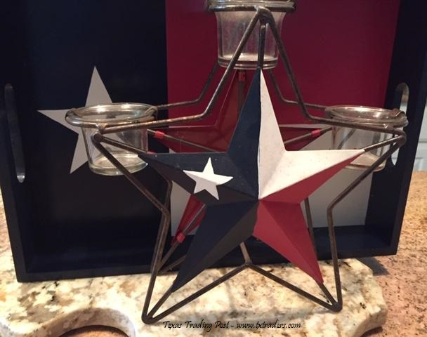 Texas Lone Star Candle Holder for your Patio