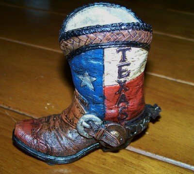 Texas Boot Pen and Pencil Holder - Weave Top