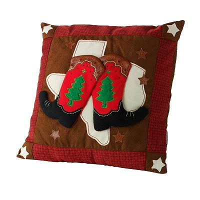 Cowboy Boots and Texas Christmas Pillow