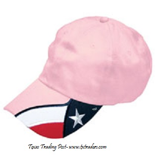 Cap in Pink with the Texas Flag