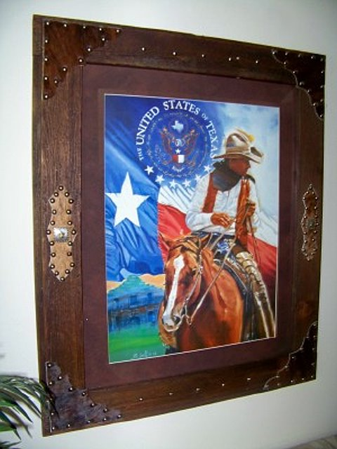 "Beautifully framed ""United States of Texas"" Picture"