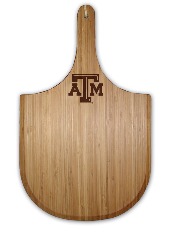 Texas A&M Bamboo Pizza Peel Board