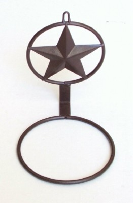 "Texas Lone Star 8"" Potted Plant Holder"