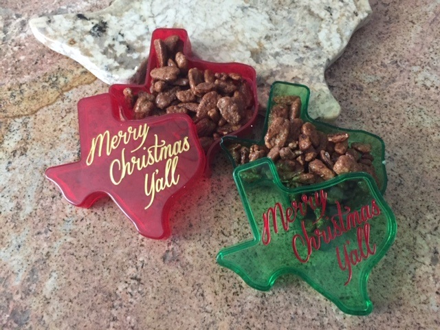 Texas Merry Christmas Y'all Gift Box with Texas Honey Pecans