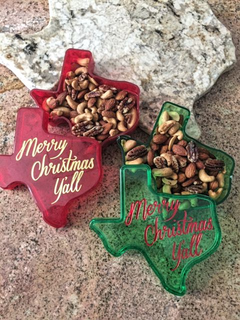 Texas Merry Christmas Y'all Gift Box with Texas Mixed Nuts