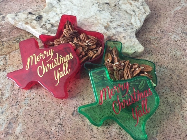 Texas Merry Christmas Y'all Gift Box with Texas Pecans