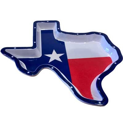 "Texas Shaped 8"" Plastic Plate for your Texas Entertaining"